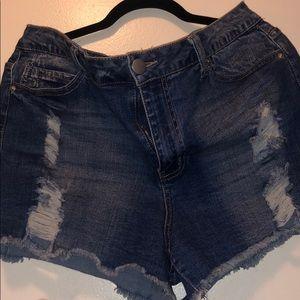 Distressed shorts